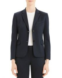 Theory Cl Shrunken Striped Two-Button Blazer Women - Bloomingdale s at Bloomingdales