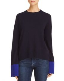 Theory Color-Block Wool  amp  Cashmere Sweater - 100  Exclusive Women - Bloomingdale s at Bloomingdales