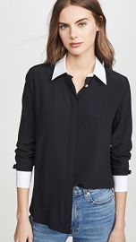 Theory Combo Stretch Shirt at Shopbop