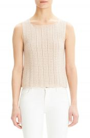 Theory Crochet Sleeveless Cotton Blend Sweater   Nordstrom at Nordstrom
