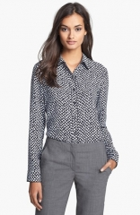 Theory Cully Print Shirt at Nordstrom