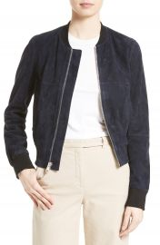 Theory Daryette S Benna Suede Bomber Jacket at Nordstrom