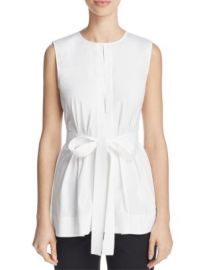 Theory Desza Belted Top at Bloomingdales