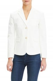 Theory Double Stretch Cotton Shrunken Jacket   Nordstrom at Nordstrom