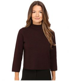 Theory Harmona JH Evian Stretch Sweater Black Sumac at 6pm