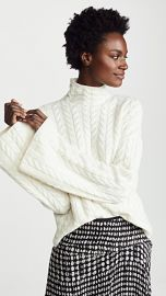 Theory Horseshoe Cable Cashmere Sweater at Shopbop