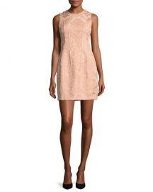 Theory Hourglass Baroque Jacquard Sleeveless Hourglass Dress at Neiman Marcus