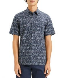 Theory Irving Geometric-Print Short-Sleeve Slim Fit Shirt Men - Bloomingdale s at Bloomingdales