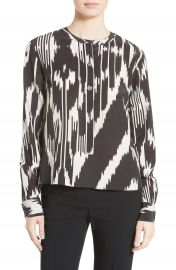 Theory Isalva Interlace Ikat Silk Top   Nordstrom at Nordstrom