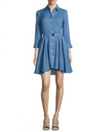 Theory Jalyis Sunny Belted Shirtdress at Neiman Marcus
