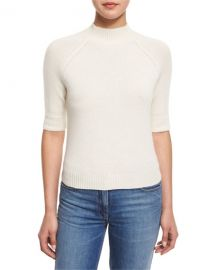 Theory Jodi B Cashmere Mock-Neck Sweater at Neiman Marcus