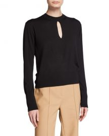 Theory Keyhole Turtleneck Regal Wool Sweater at Neiman Marcus