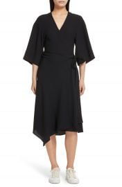 Theory Kimono Crepe Wrap Dress at Nordstrom