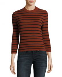 Theory Lemdora Prosecco striped sweater at Neiman Marcus