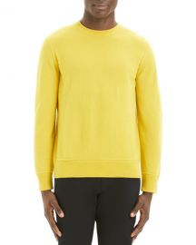Theory Men  x27 s Hilles Solid Cashmere Crewneck Sweater at Neiman Marcus