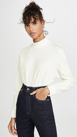 Theory Mock Neck Long Sleeve Top at Shopbop