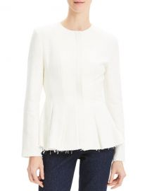 Theory Movement Fitted Raw-Edge Peplum Jacket at Neiman Marcus