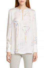 Theory Nature Silk Chiffon Tunic   Nordstrom at Nordstrom