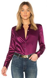 Theory Perfect Fitted Button Up in Electric Pink from Revolve com at Revolve