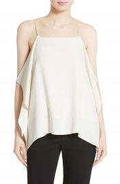 Theory Petteri Rosina Crepe Cold Shoulder Top at Nordstrom