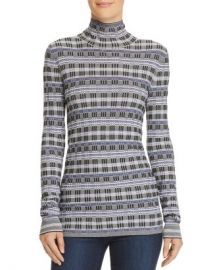 Theory Plaid Turtleneck Top Women - Bloomingdale s at Bloomingdales