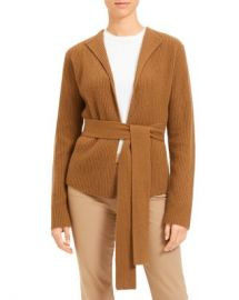 Theory Ribbed Wool  amp  Cashmere Belted Cardigan Women - Bloomingdale s at Bloomingdales