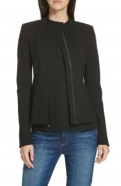 Theory Sculpted Twill Knit Jacket at Nordstrom