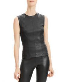 Theory Sleeveless Leather Top Women - Bloomingdale s at Bloomingdales