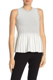 Theory Sleeveless Peplum Blouse at Nordstrom Rack