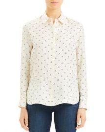 Theory Straight Dot Print Shirt Women - Bloomingdale s at Bloomingdales