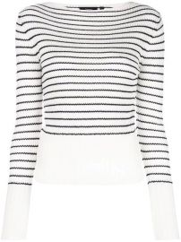 Theory Striped Knitted Top - Farfetch at Farfetch
