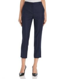 Theory Striped Wool Cropped Pants - 100  Exclusive Women - Bloomingdale s at Bloomingdales