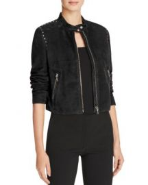 Theory Studded Suede Moto Jacket at Bloomingdales