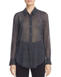 Theory Sunaya Square Dot Blouse at Bloomingdales