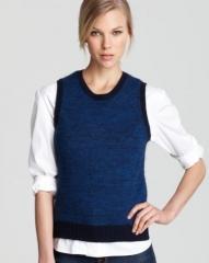 Theory Sweater - Chaz B Soft Marl Sleeveless at Bloomingdales