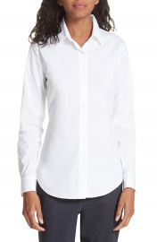 Theory Tenia Cotton Blend Blouse   Nordstrom at Nordstrom