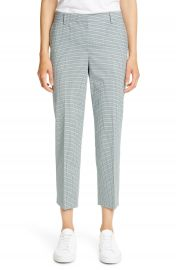 Theory Treeca 4 Wool Blend Crop Trousers   Nordstrom at Nordstrom