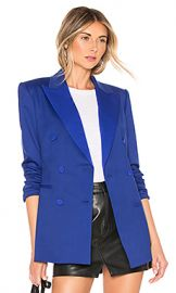Theory Tuxedo Blazer in Cosmic Blue from Revolve com at Revolve