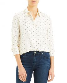 Theory Vintage Dot Classic Button-Down Shirt at Neiman Marcus