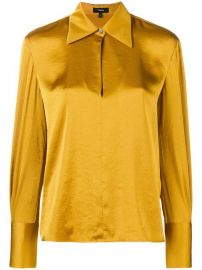 Theory Wide Collar Blouse at Farfetch