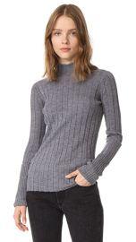 Theory Wide Rib Mock Sweater at Shopbop