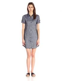 Theory Women s Mayvine Tierra Wash Shirt Dress at Amazon