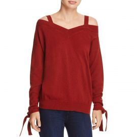 Theory Womens Cashmere Off-The-Shoulder Pullover Sweater at Amazon