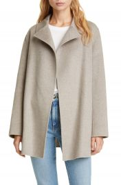 Theory Wool  amp  Cashmere Overlay Coat   Nordstrom at Nordstrom