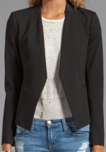 Theory leather trim blazer at Revolve