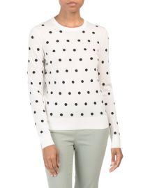 Theory polka dot sweater at TJ Maxx