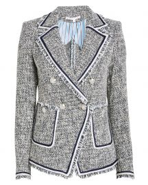 Theron Tweed Double Breasted Blazer at Intermix