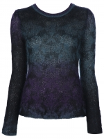 Theyskens Theory purple knupa sweater at Farfetch