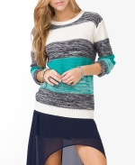 Thick Striped Knit Sweater from Forever 21 at Forever 21