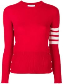 Thom Browne Classic Crewneck Pullover Cashmere With 4-Bar Sleeve Stripe - Farfetch at Farfetch